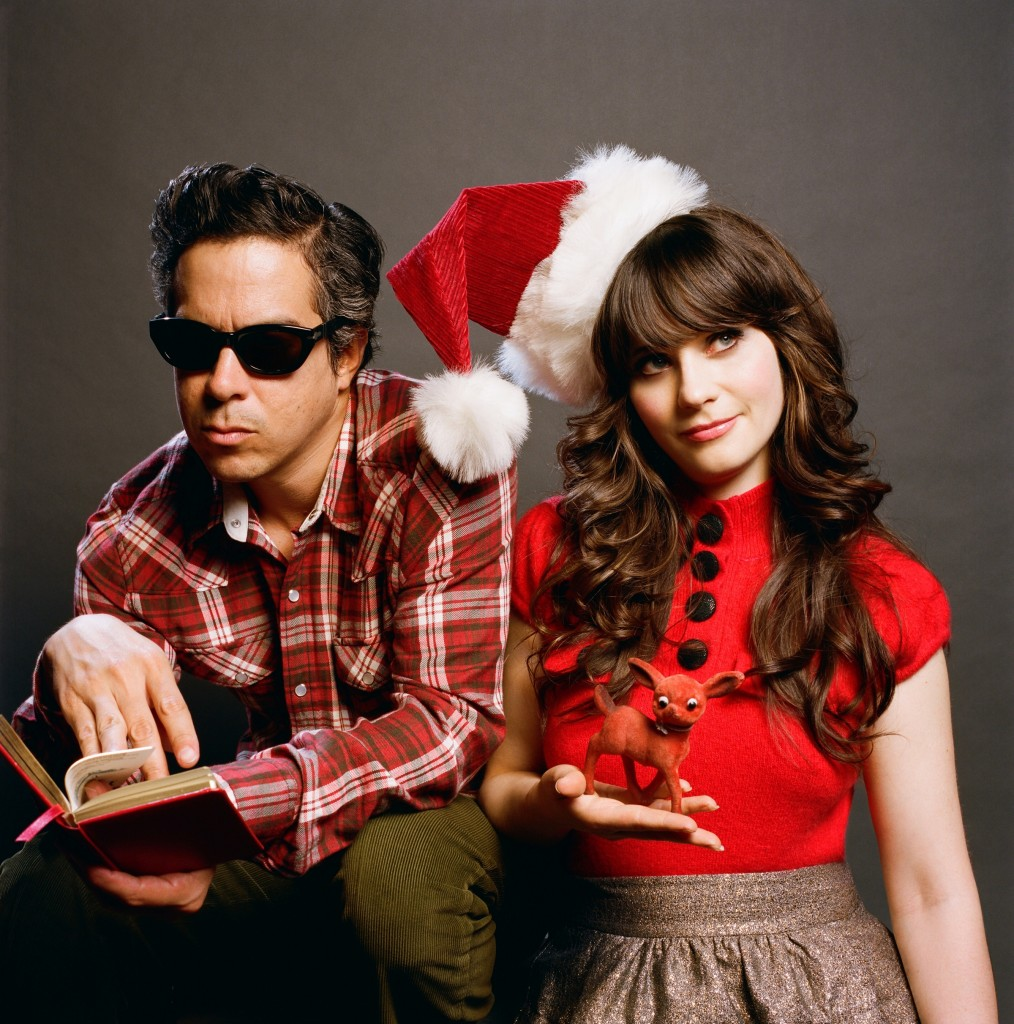 SheHim 1014x1024 She & Him introduce festive Yule Log app