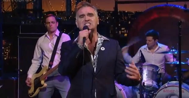 Moz 620x322 While you were sleeping: Morrissey played Letterman